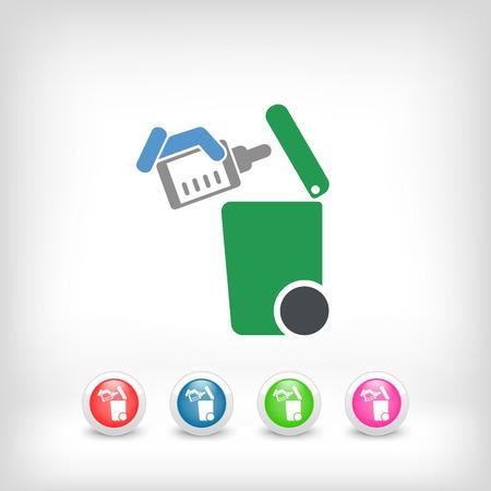 goteros: Separe icono de recogida de residuos Vectores