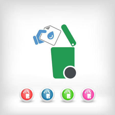 separately: Separate waste collection icon