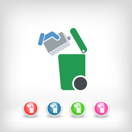 paperboard packaging: Separate waste collection icon
