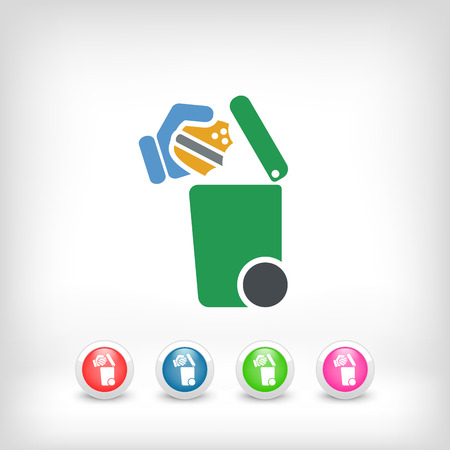 food waste: Separate waste collection icon