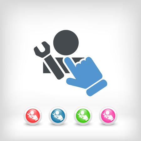 broken link: Icono de Asistencia Vectores
