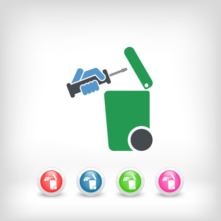 discard: Separate waste collection icon