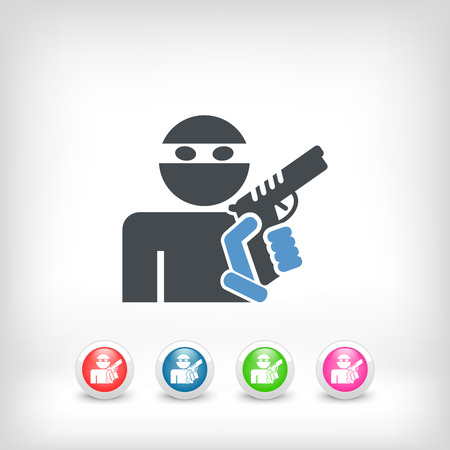 Thief armed Vector