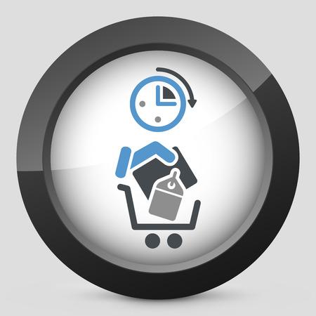 Shopping time Vector