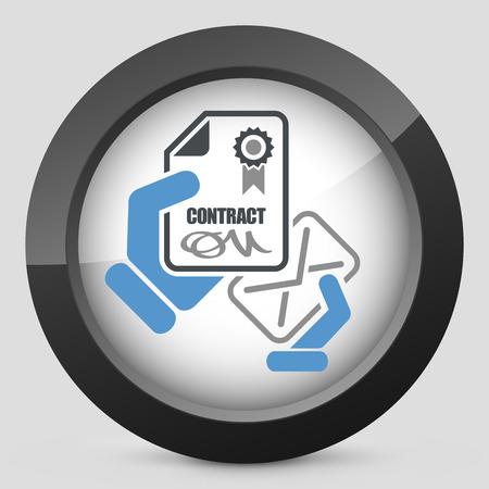 ratificaci�n: Icono de Contrato Vectores