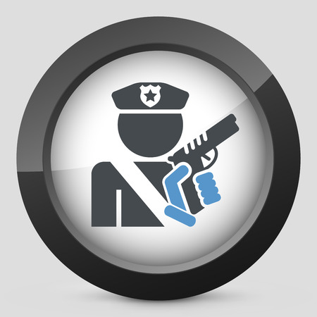 Policeman icon Vector