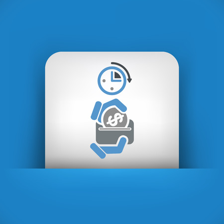 earn fast money: Money time icon