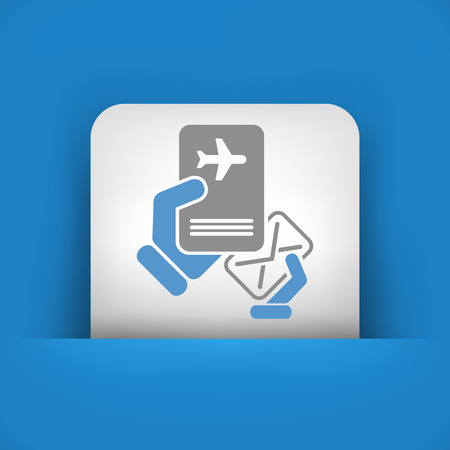 Mail with travel document Vector