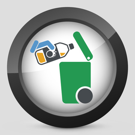 oxidizing: Separate waste collection icon