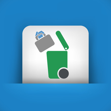 cleaning cloth: Separate waste collection icon