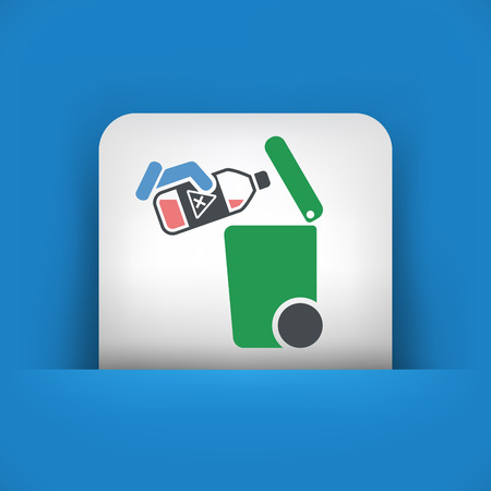 corrosive: Separate waste collection icon