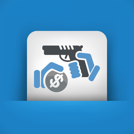 Armed robbery Vector