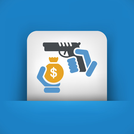 robbery: Robbery icon Illustration