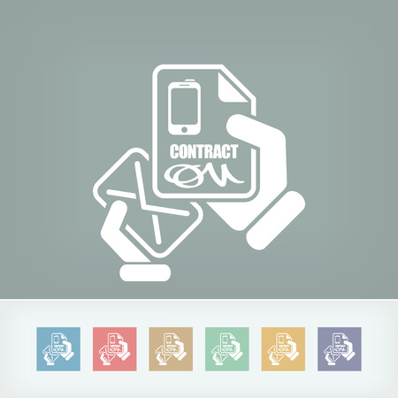 notarized: Mail with a phone contract Illustration