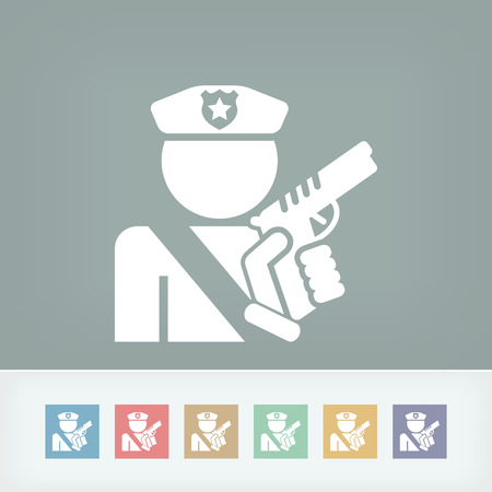 watchman: Policeman icon Illustration