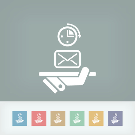 rapidity: Postal fast service Illustration