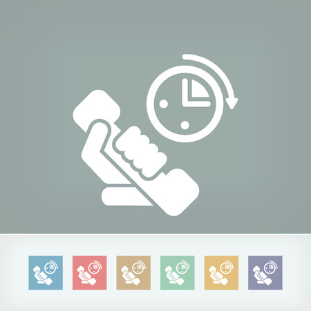 phone time: Phone time icon Illustration