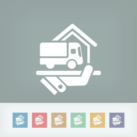 Home delivery service Illustration