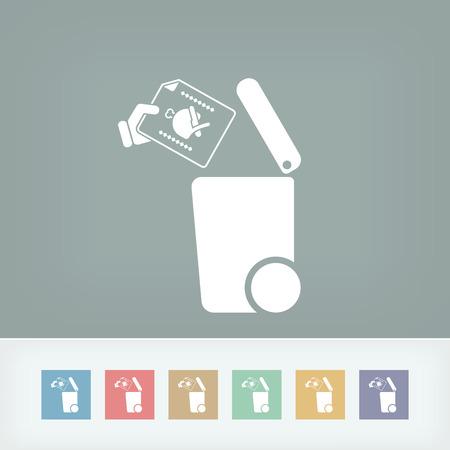 salumi affettati: Indipendente icona raccolta dei rifiuti