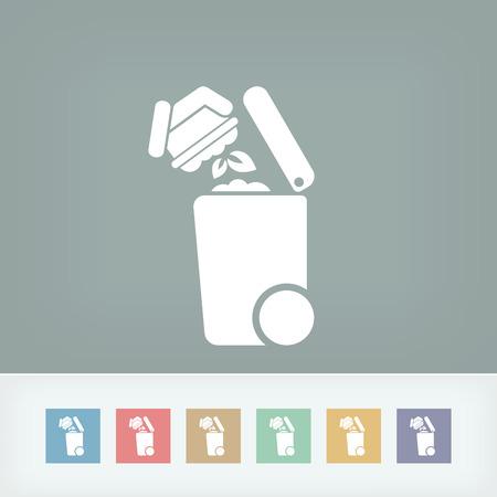 kompost: M�lltrennung Symbol