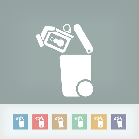 can not: Separate waste collection icon