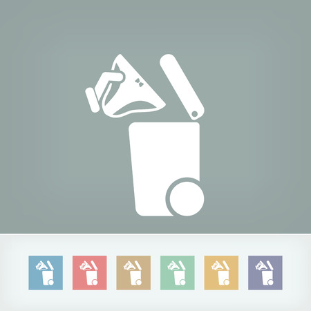synthetic fiber: Separate waste collection icon