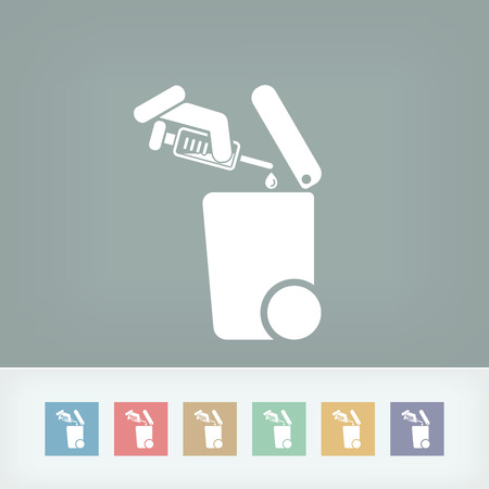 Separate waste collection icon Vektorové ilustrace