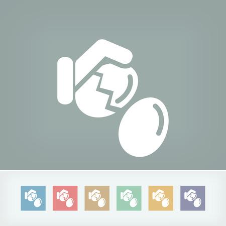 break: Eggs break Illustration