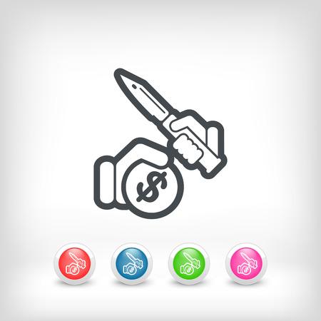 burglary: Rapine icon Illustration