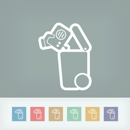 separate: Separate waste collection icon