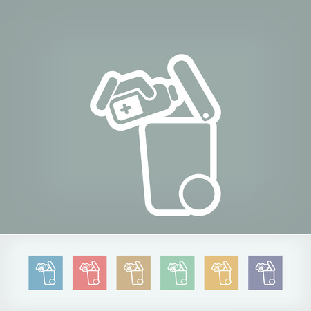 waste separation: Separate waste collection icon