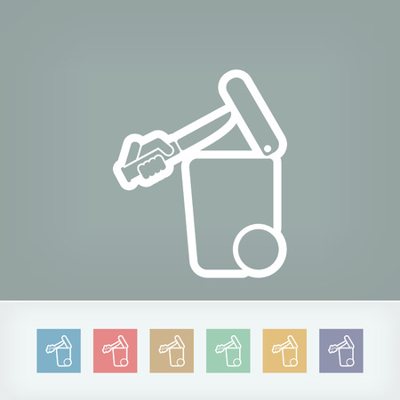 throwing knife: Separate waste collection icon