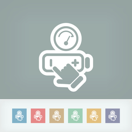 activate: Battery level icon Illustration