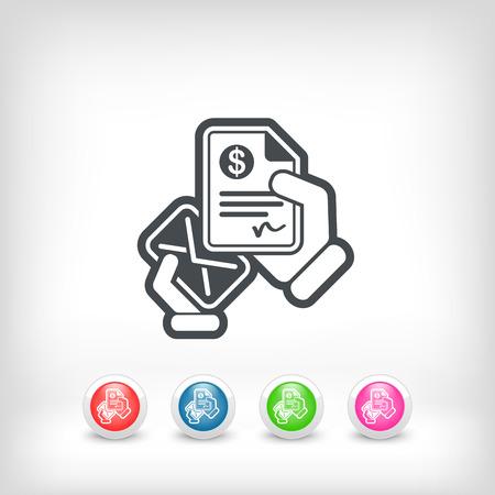 payable: Mail con un documento bancario