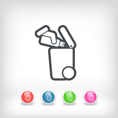 pendrive: Separate waste collection icon