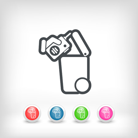 biodegradable material: Separate waste collection icon