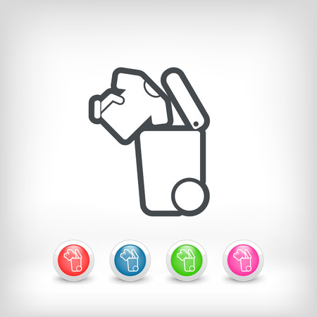 biodegradable: Separate waste collection icon