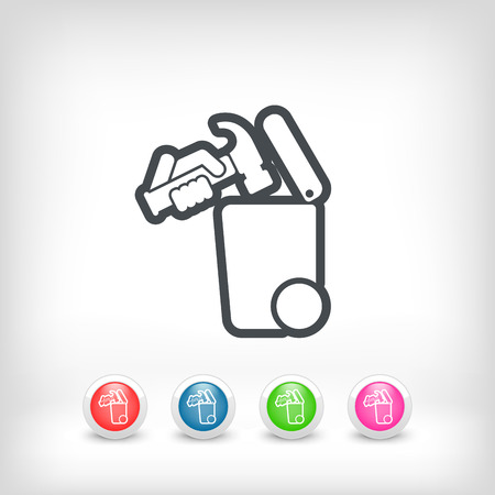 recyclable waste: Separate waste collection icon