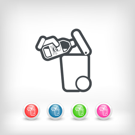 perilous: Separate waste collection icon