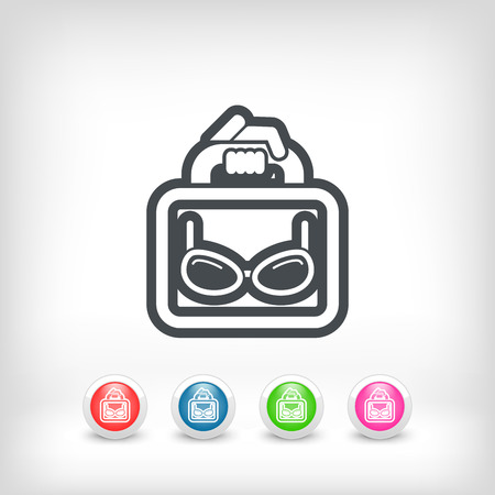 corrective lenses: Eyeglasses shop Illustration