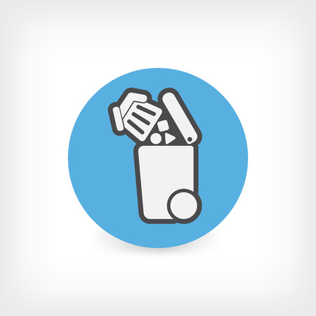 emptying: Separate waste collection icon