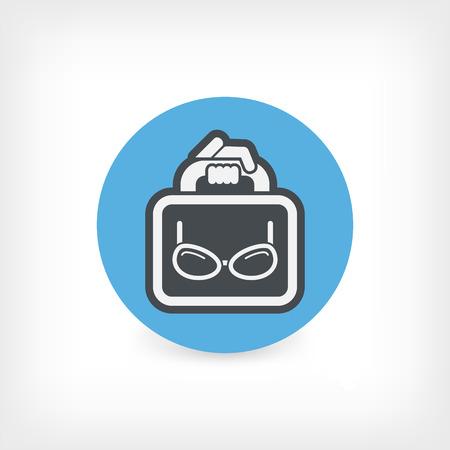 eyeglasses: Eyeglasses shop Illustration