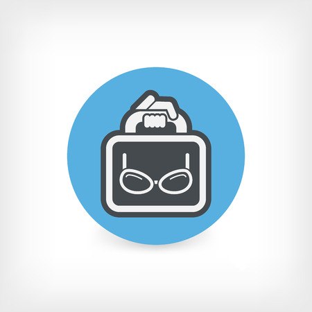 Eyeglasses shop Illustration