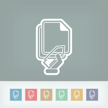 clipe de papel: �cone de clipe de papel Ilustra��o