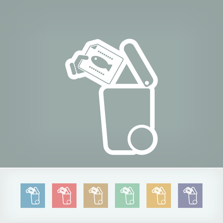 throw up: Separate waste collection icon