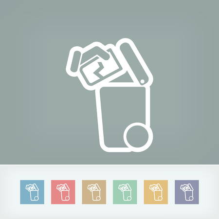 cracked glass: Separate waste collection icon