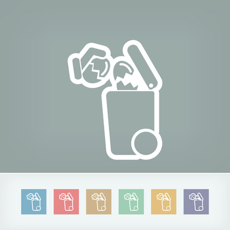 residue: Separate waste collection icon