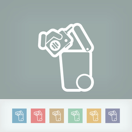 handheld device: Separate waste collection icon