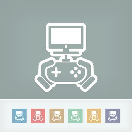 joypad: Icono del juego de v�deo Vectores