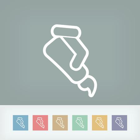 pharmaceutics: Gel tube Illustration